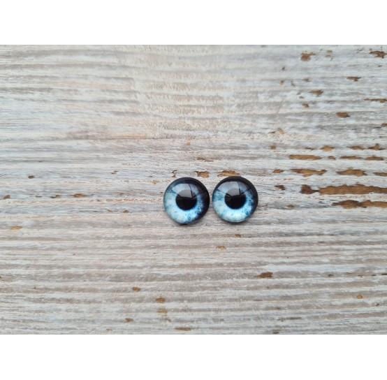 Glass eyes Blue 18, ~ Ø 1 cm