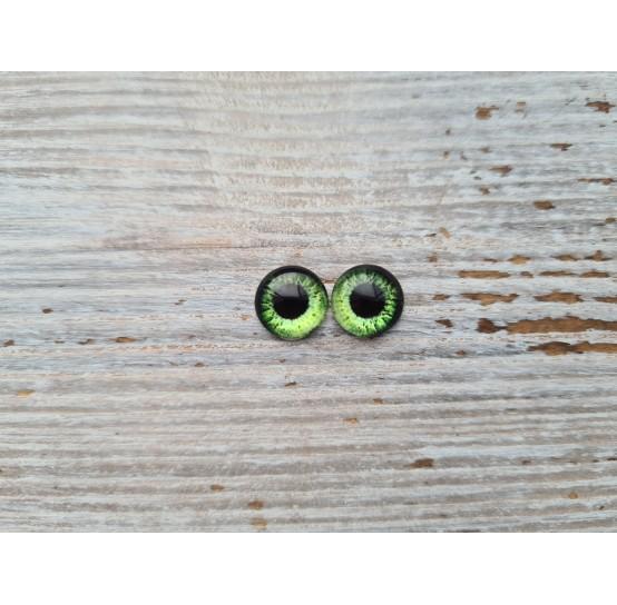 Glass eyes Green 14, ~ Ø 1 cm