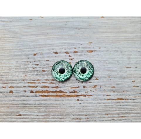Glass eyes Green 2, ~ Ø 1 cm