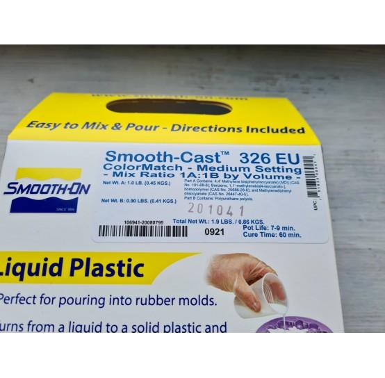 Smooth-Cast 326 liquid plastic, semi-transparent, 0,86 kg, cure time 60 minutes