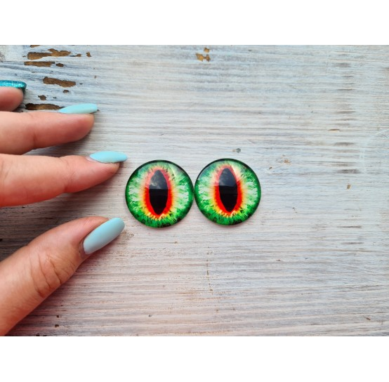 Glass eyes Green 5, ~ Ø 3 cm