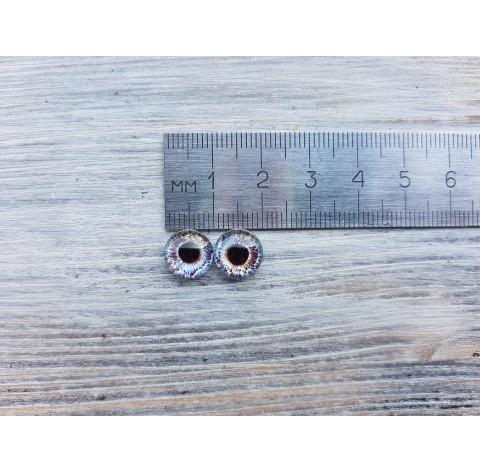 Glass eyes Blue 4, ~ Ø 1 cm