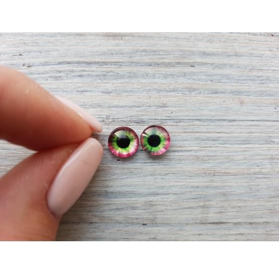 Glass eyes Green 7, ~ Ø 0.8 cm