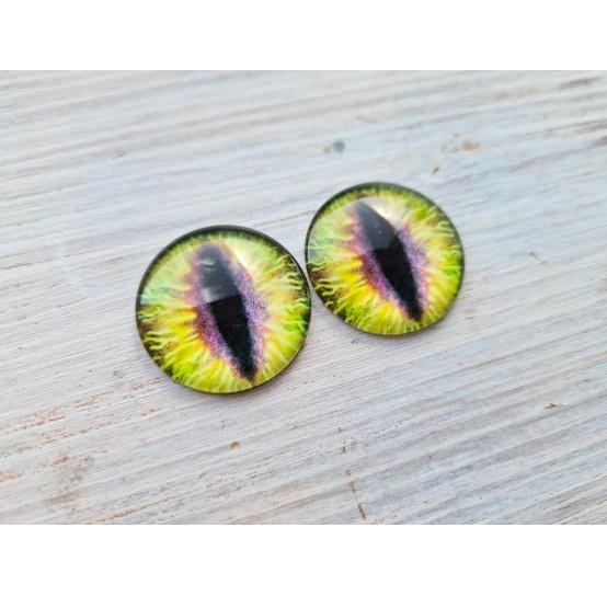 Glass eyes Yellow 3, ~2,5 cm