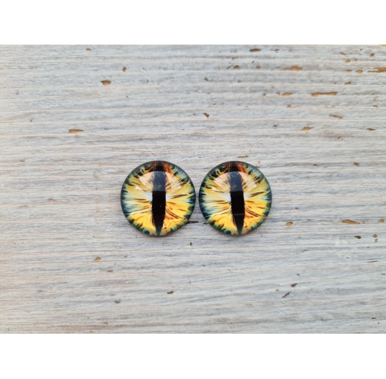 Glass eyes Yellow 1, ~ Ø 2 cm