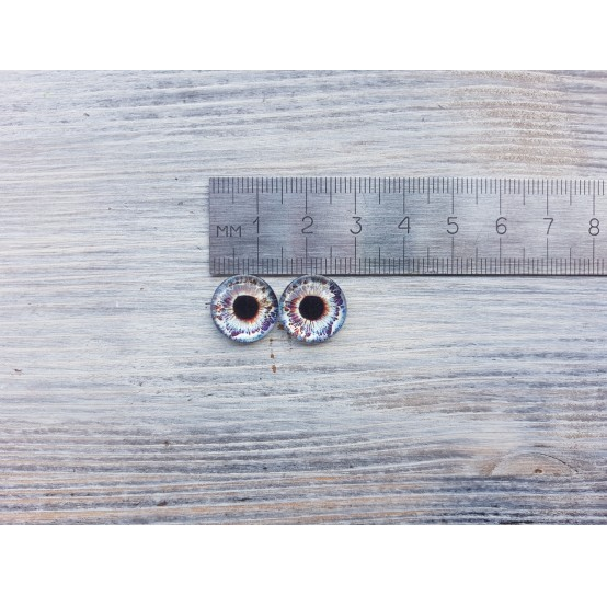 Glass eyes Blue 4, ~ Ø 1.4 cm