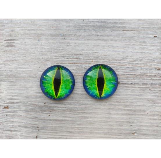 Glass eyes Green 1, ~2,5 cm