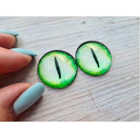 Glass eyes Green 2, ~2,5 cm