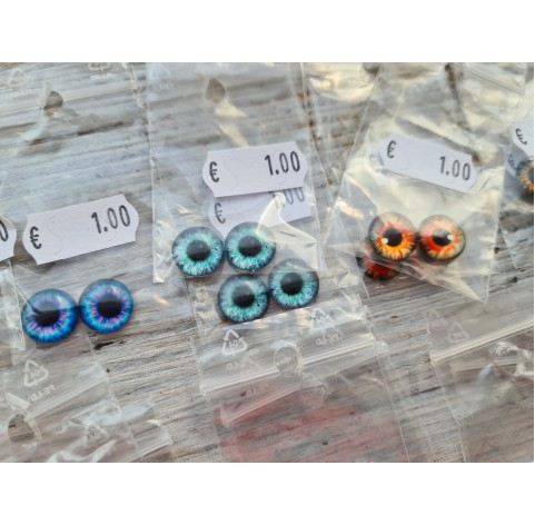 Glass eyes, Random choice 2, ~ Ø 1,2 cm