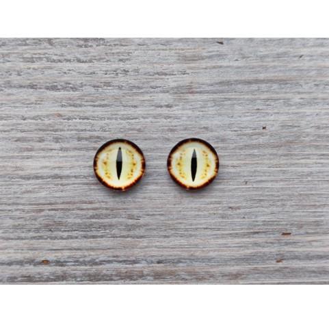 Glass eyes Yellow 5, ~ Ø 1 cm