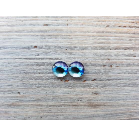 Glass eyes Blue 6, ~ Ø 1.2 cm