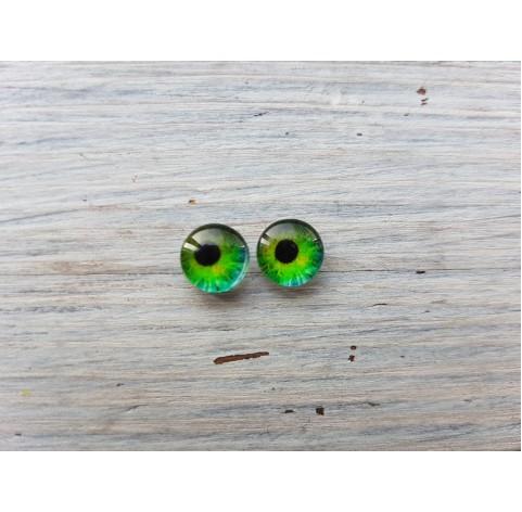 Glass eyes Green 7, ~ Ø 1.2 cm