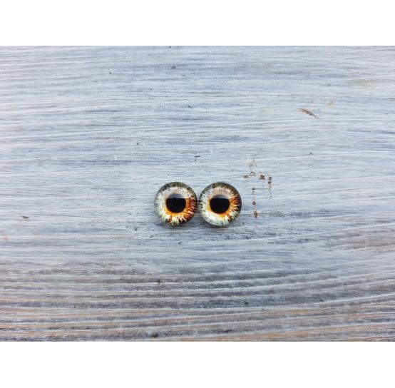 Glass eyes Brown 2, ~ Ø 0.8 cm