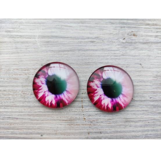 Glass eyes Pink 2, ~ Ø 3 cm