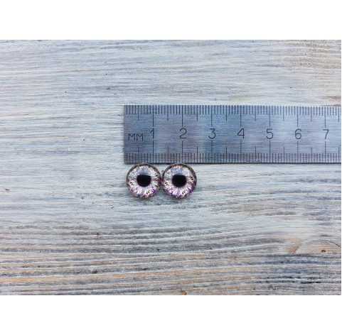 Glass eyes Violet 1, ~ Ø 1.2 cm