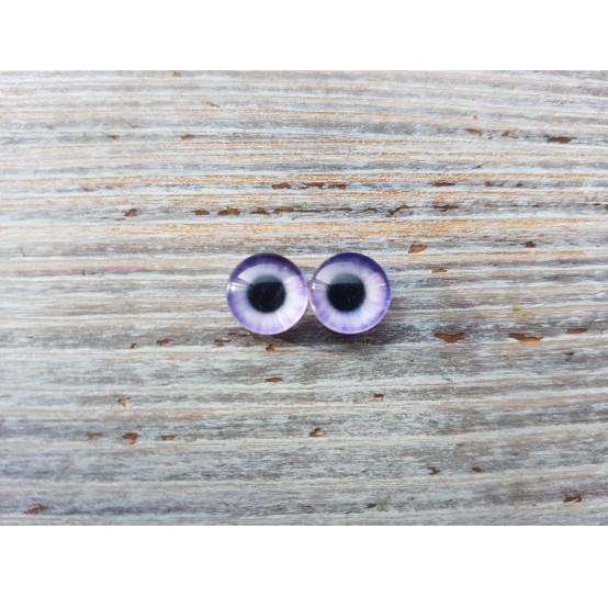 Glass eyes Violet 2, ~ Ø 1.2 cm
