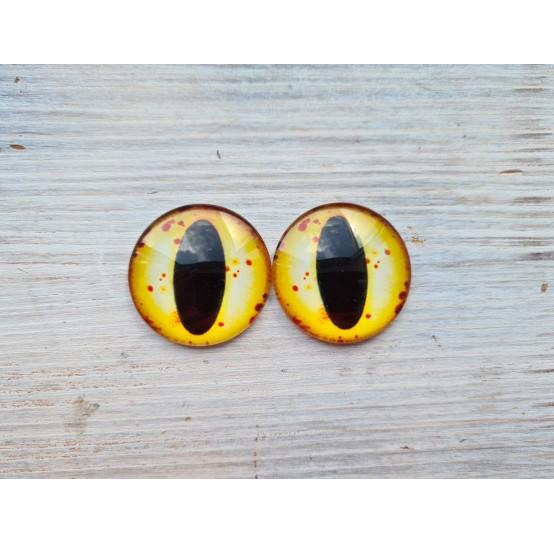 Glass eyes Yellow 3, ~ Ø 3 cm