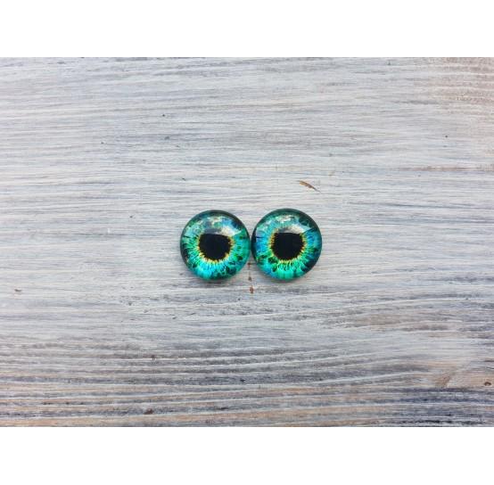 Glass eyes Green 4, ~ Ø 1.6 cm