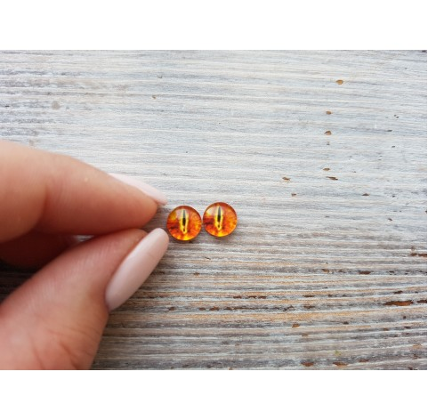 Glass eyes Orange 1, ~ Ø 0.8 cm