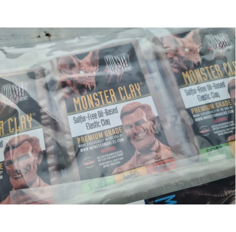 Monster Clay modeling clay sample pack 4x ~75 g