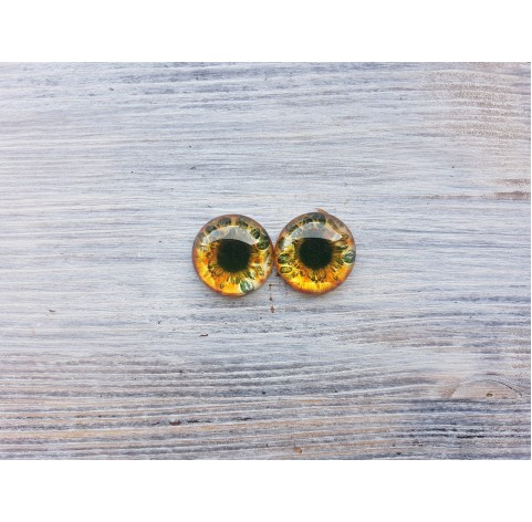 Glass eyes Brown 1, ~ Ø 1.8 cm