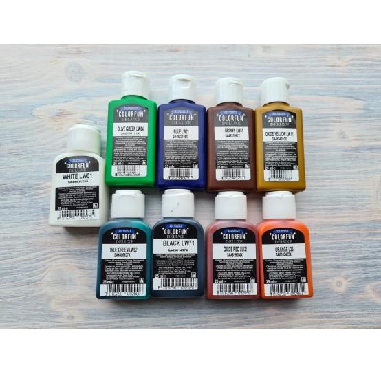 Dye for epoxy resins Colorfun Deluxe, set, 9 colours, 9x25 ml