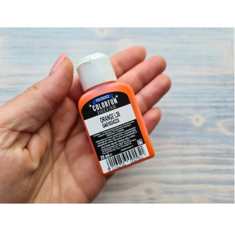 Dye for epoxy resins Colorfun Deluxe, orange, 25ml