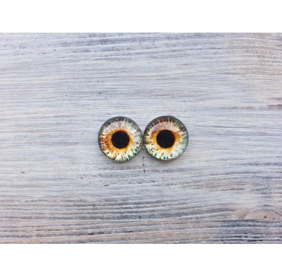 Glass eyes Brown 2, ~ Ø 1.4 cm