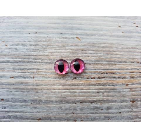 Glass eyes Pink 3, ~ Ø 1 cm