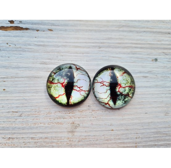 Glass eyes Grey 2, ~2,5 cm