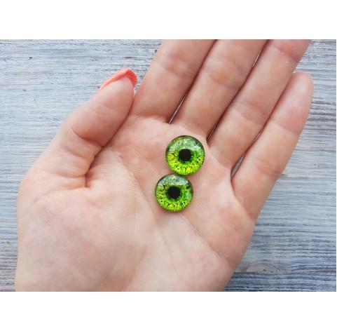 Glass eyes Green 1, ~ Ø 1.6 cm