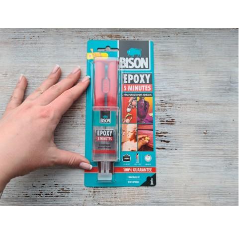 Epoxy glue Bison 2k / EPOXY ADHESIVE 5 min., 24ml, līdz 70 C