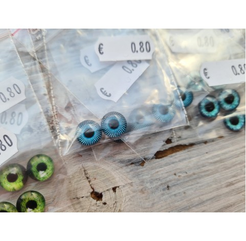 Glass eyes, Random choice 3, ~ Ø 1 cm