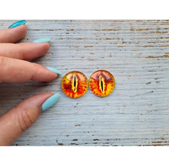 Glass eyes Orange 1, ~2,5 cm