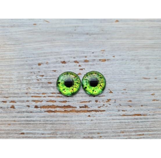 Glass eyes Green 10, ~ Ø 0.8 cm