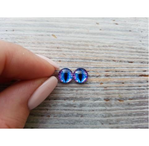 Glass eyes Blue 2, ~ Ø 0.8 cm
