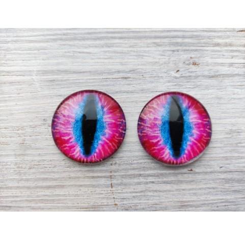 Glass eyes Pink 1, ~ Ø 3 cm