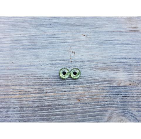 Glass eyes Blue 11, ~ Ø 0.8 cm