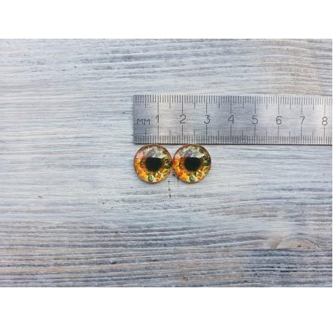 Glass eyes Brown 1, ~ Ø 1.6 cm