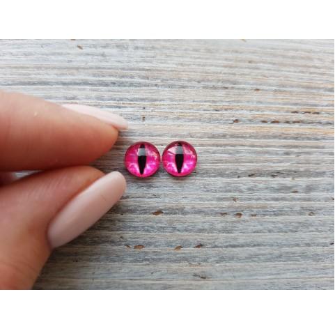 Glass eyes Pink 4, ~ Ø 0.8 cm
