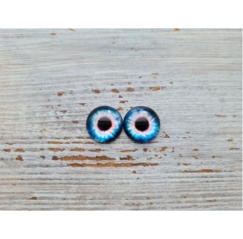 Glass eyes Blue 3, ~ Ø 1.2 cm