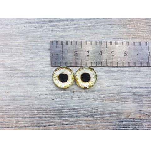 Glass eyes Green 3, ~ Ø 1.8 cm
