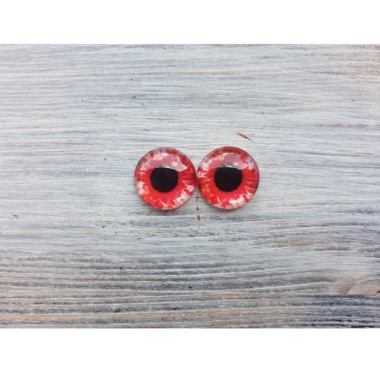 Glass eyes Red 1, ~ Ø 1.8 cm