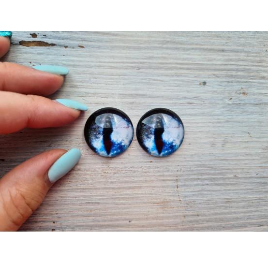 Glass eyes Blue 6, ~2,5 cm