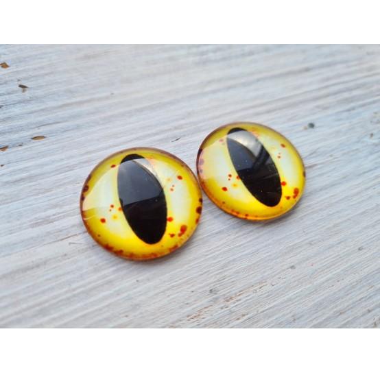 Glass eyes Yellow 1, ~2,5 cm