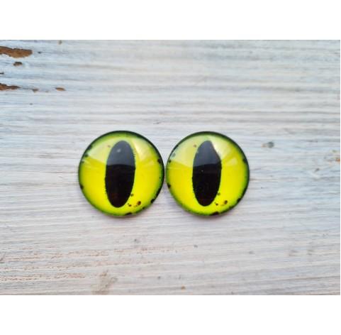 Glass eyes Yellow 2, ~2,5 cm