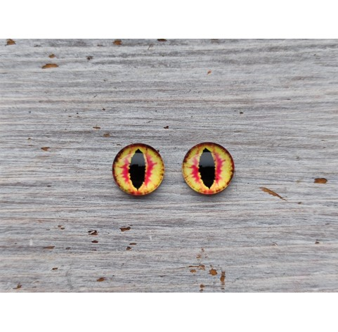 Glass eyes Orange 3, ~ Ø 1 cm
