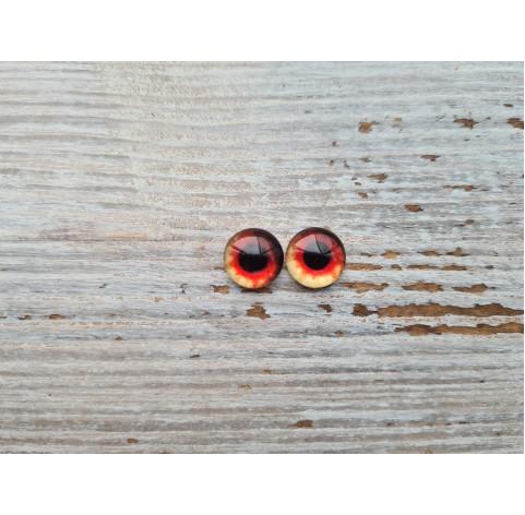 Glass eyes Red 4, ~ Ø 1 cm