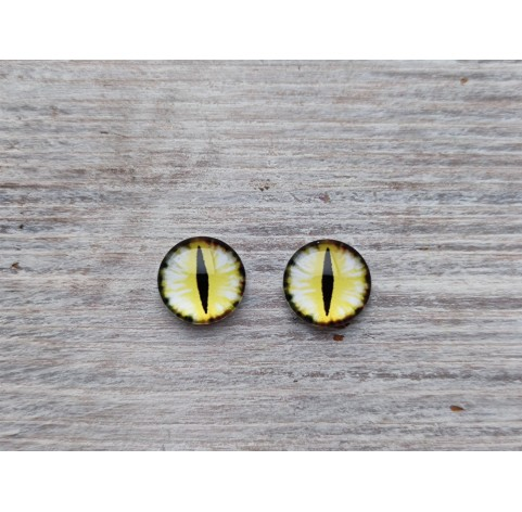 Glass eyes Yellow 3, ~ Ø 1 cm