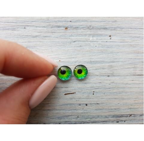 Glass eyes Green 9, ~ Ø 0.8 cm